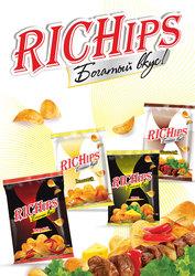Семечки «Класс» и картофельные чипсы «RICHips»